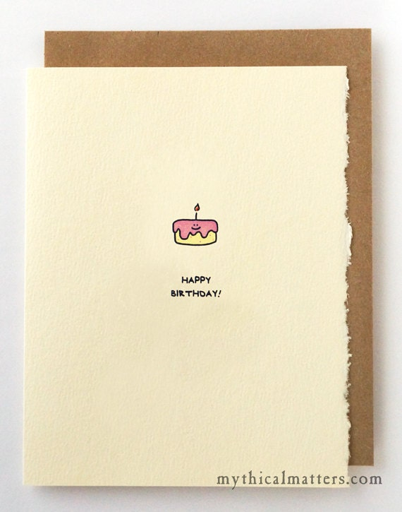 Happy Birthday Card Cute Birthday Wishes Nice Sweet for Her Mom Sister Friend Funny Adorable Recycled Edge Made in Canada Toronto Wholesale