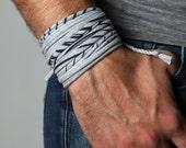 Men Bracelet, Festival Clothing, Burning Man, Wrap Bracelet, Gift for Men, Boyfriend Gift, Mens Gift, Gift for Boyfriend, Festival, Mens