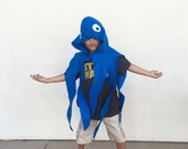 Blue Octopus Cape, Halloween Costume or Dress Up Cape for all ages
