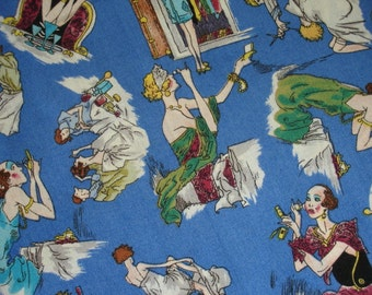 SALE 40% Off through 8/1 - WOMEN FABRIC Girl's Night Out by Quilters Only - 1 Yard Very Rare - #L6