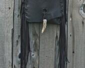 Soft brown crossbody shoulder bag with fringe , Fringed brown handbag