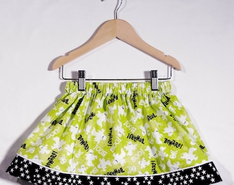 Beware Ghostly Green Banner Skirt (Size Small)