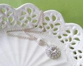Crystal bridal necklace, wedding necklace, rhinestone necklace, wedding jewelry set, Old Hollywood glamour costume jewlery. SOPHIA