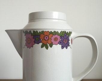retro Floral 'Springtime' Coffee Pot by Jon Anton England