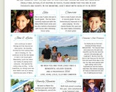 NEW - 2015 Year In Review / Christmas Letter Template in PDF for Adobe Reader - Berry with Photos