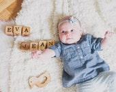 Wooden Custom Child Name Blocks