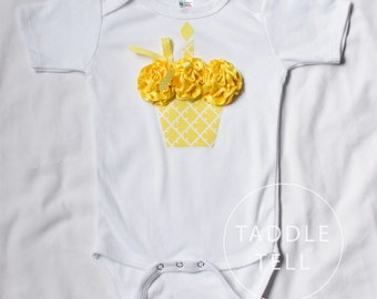 SUNSHINE 3d Cupcake Onesie or T-Shirt - You pick size