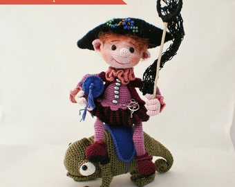 Dreamcatcher + Chameleon  –  2-in-1 Crochet Pattern by ToyMagic [PDF Instant Download Amigurumi Crochet Toy]
