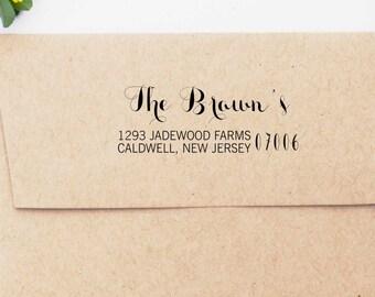 Address Stamp, Custom Return Address Stamp, Self inking Address Stamp, Custom Wedding Stamp, Custom Rubber Stamp  10209