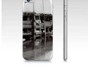Photo iPhone 6 Cases Black And White, Boat Wharf Photo Phone Case Fits iPhone 6 and iPhone 6S, Slim Protective Phone Case, Artist Designed