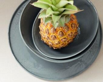 Ceramic Dinnerware Set Rustic Pottery Ceramic Serving Dish Porcelain Dish Set Porcelain Plates SCULPTUREinDESIGN