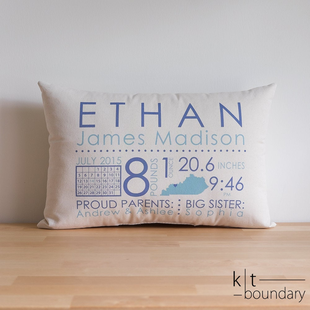 Personalized Baby Pillow Baby Announcement Baby By