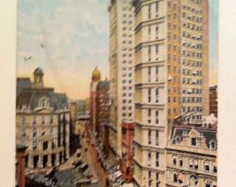 Vintage N Y Postcard Park Row New York