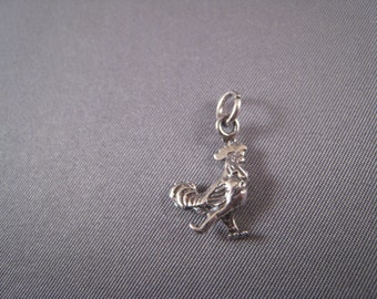 Rooster .925 Sterling Silver Charm
