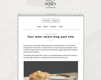 mailchimp html template email newsletter clean design. Black Bedroom Furniture Sets. Home Design Ideas