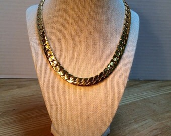 "Vintage Necklace, Heavy Gold Tone Chain, Vintage piece from the 1980""s, Jewelry, Necklaces, 18"" Length Chain"