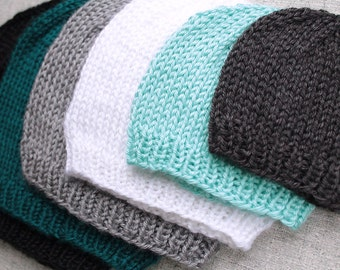 Preemie Size Basic Knit Beanie Hat