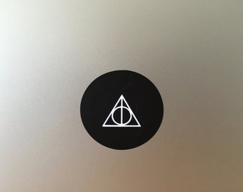 Deathly Hallows vinyl decal/sticker for Macbook Air & Pro