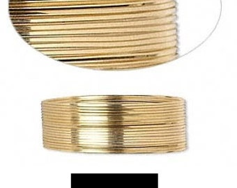 Quality Wrapping Wire 12Kt Gold-Filled half-hard Square 22 gauge 5' GF HH SQ 22GA #1253 Made In America!