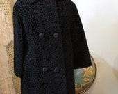 1950s Curly Lamb Vintage Coat