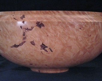 Big Leaf Maple Burl Centerpiece Wood Bowl Wooden Bowl Fine Woodworking Lathe Turned Parlor Art Wedding Fifth Anniversary 5th Gallery 1358
