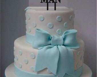 Little Man Cake Topper, Acrylic Laser Cut Cake Topper, Baby Shower Cake Topper, Little Gentleman Mustache Cake Topper Birthday - baby shower