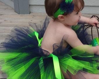 Blue Green Football Colors Tutu/Blue Green Football Tutu/Blue Green Tutu/Sports Tutu/Infant Tutu/Baby tutu/BlueTutu/Green Tutu/Toddler Tutu