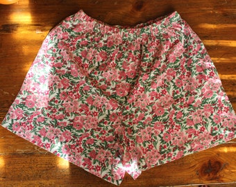 Pink Flower Lounge Shorts // M/L