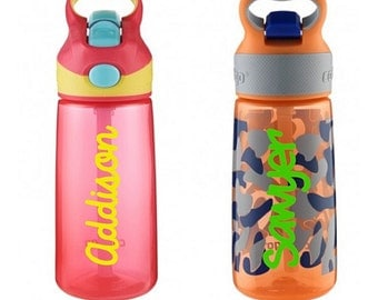 Personalized decal for Contigo kids water bottle, decal DIY