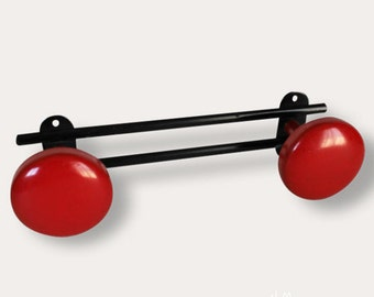 Coat vintage 2 hooks red and black