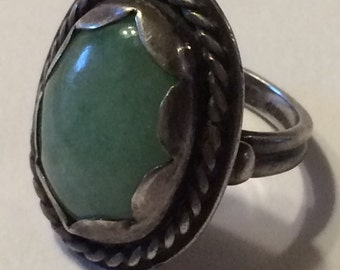 Vintage Moderist G L Davis sterling Handmade Ring