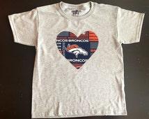 Denver Broncos Shirt, Denver Broncos, Denver Broncos kids, Broncos Shirt, Peyton Manning, Denver Shirt