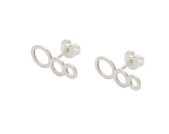 Triple Tube Studs, Sterling Silver, 925, Ear Climber, Cute Studs, Ear Climbers, Handmade, Silver Studs, Stud Earrings, Silver Stud Earrings