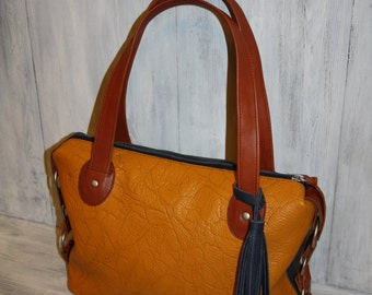 Leather Bag yellow/Leather Bag brown/ Leather Bag blue