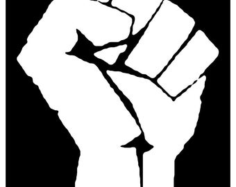 Sticker Decal Retro 60s Black Power Civil Rights Socialist Occupy Clenched Fist