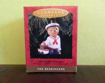 "Hallmark Keepsake Bear Ornament ""Abernathy Bearinger"""