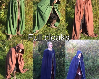 Everyday Flannel Cloak- Renaissance, Cosplay, Medieval, LARP, Comic, Halloween