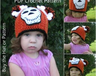 Crochet Skeleton Hat Pattern,Skeleton Hat,Crochet Skull Pattern,Crochet Skull Hat,Skeleton Beanie,Halloween Skull Hat Pattern,Skeletons,5.97