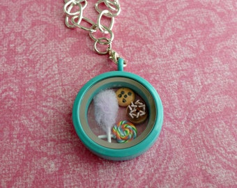 Floating Locket Charms Miniature Food Jewelry Dessert Charm Set