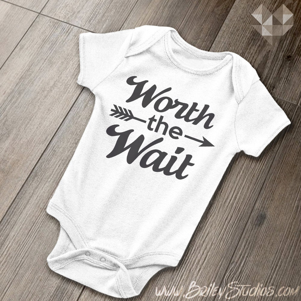 Worth the Wait Baby Onesie Hipster Arrow Infant by ...