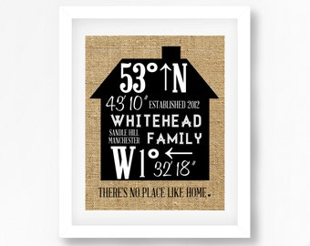 Personalised Family Art Family Print Housewarming Gift