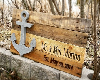 Wedding Guest Book - Anchor