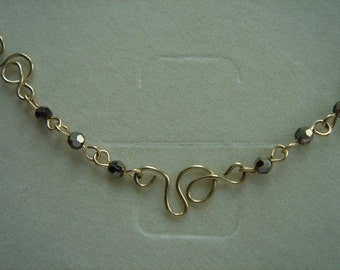 Necklace in gold 585 (14 K) with sparkling Pearl, beautiful!