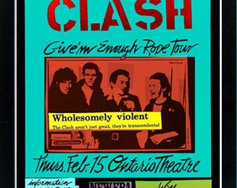 The Clash Pop Art Poster A+ Quality Framed