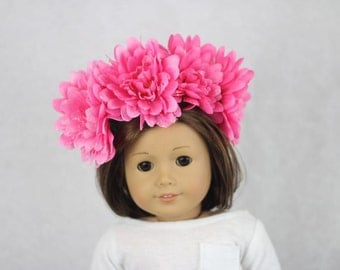 pink dahlia flower crown
