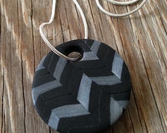 Lupine - Handmade Polymer Clay Pendant