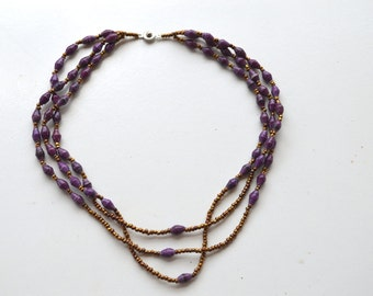 Multi-strand, Recycled Paper Beads