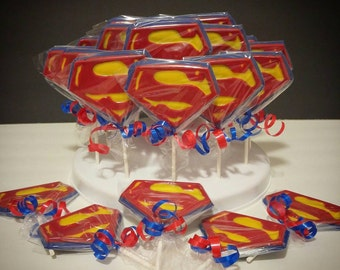 Superman Chocolate Lollipop