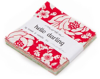 Hello Darling fabric charm pack by Bonnie and Camille for Moda Fabrics
