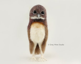 Burrowing Owl - Needlefelted